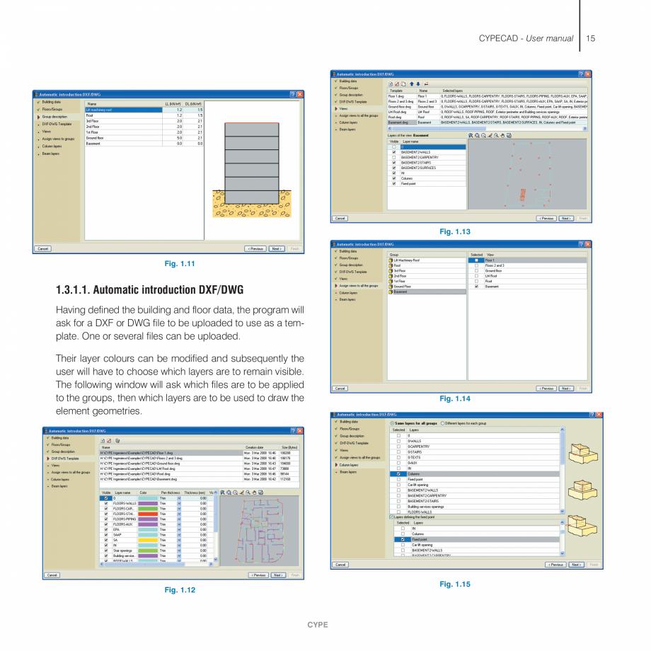 Pagina 15 - Manual de utilizare CYPE CYPECAD Instructiuni montaj, utilizare Engleza . . . . . . . . ...