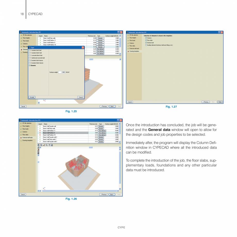 Pagina 18 - Manual de utilizare CYPE CYPECAD Instructiuni montaj, utilizare Engleza uctures . . . . ...