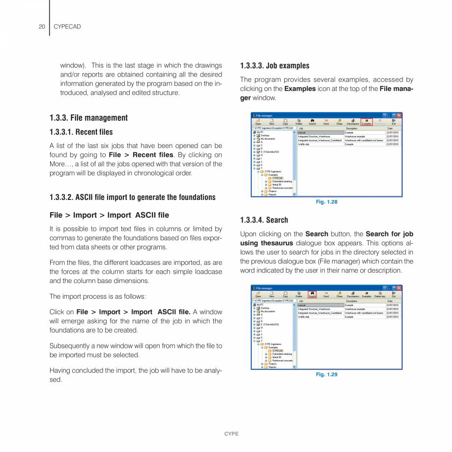 Pagina 20 - Manual de utilizare CYPE CYPECAD Instructiuni montaj, utilizare Engleza b . . . . . . . ...