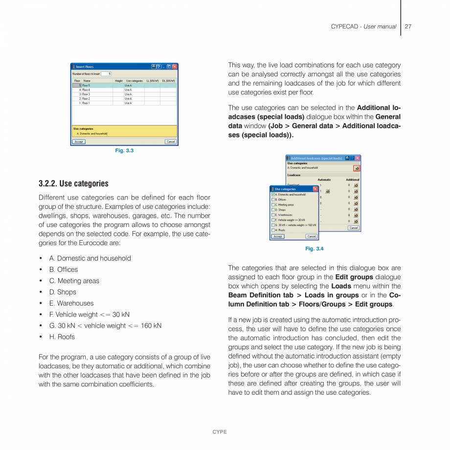 Pagina 27 - Manual de utilizare CYPE CYPECAD Instructiuni montaj, utilizare Engleza Definition, Beam...