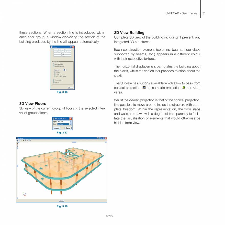 Pagina 31 - Manual de utilizare CYPE CYPECAD Instructiuni montaj, utilizare Engleza  as a template. ...