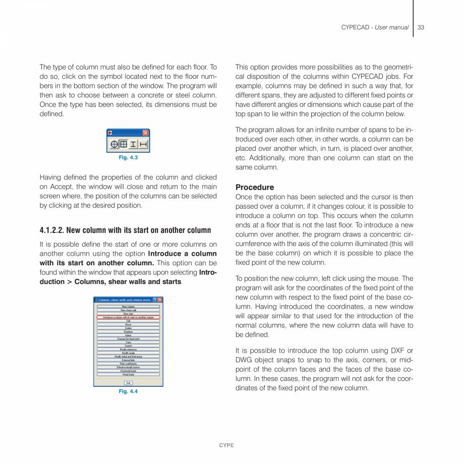 Pagina 33 - Manual de utilizare CYPE CYPECAD Instructiuni montaj, utilizare Engleza PECAD, or...