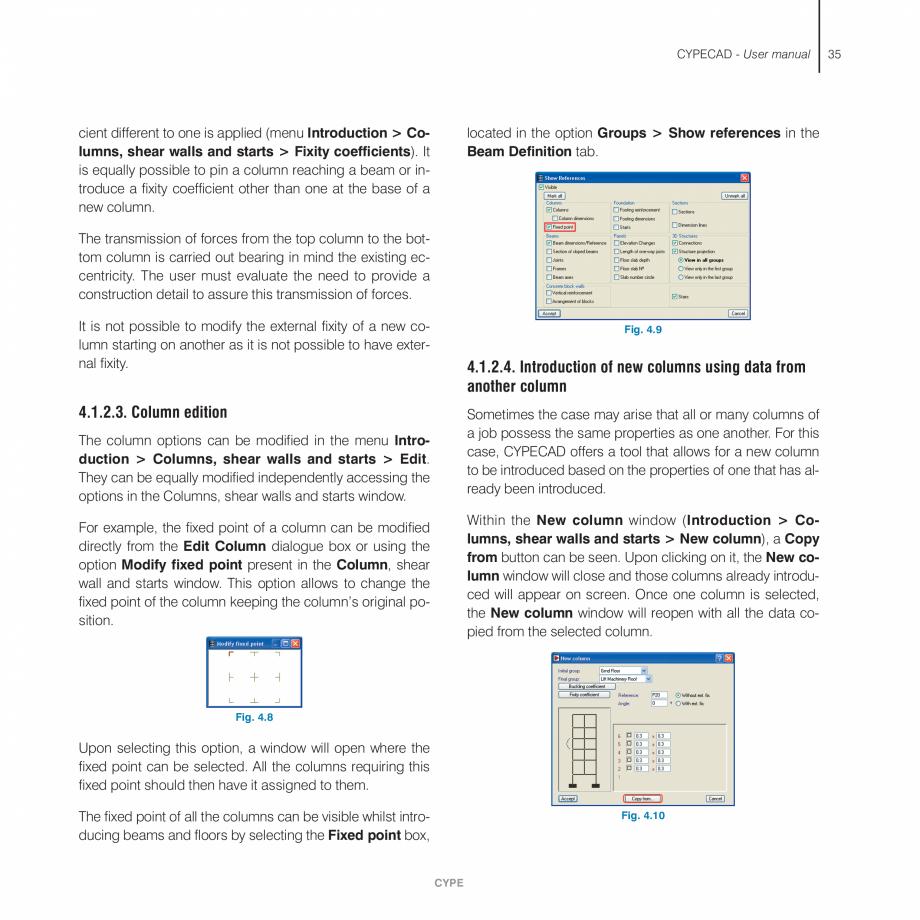 Pagina 35 - Manual de utilizare CYPE CYPECAD Instructiuni montaj, utilizare Engleza n tab,...