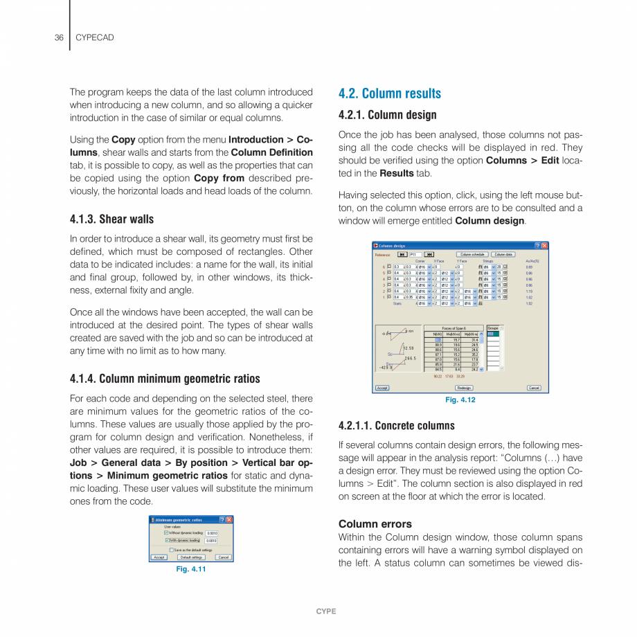 Pagina 36 - Manual de utilizare CYPE CYPECAD Instructiuni montaj, utilizare Engleza wings and/or...