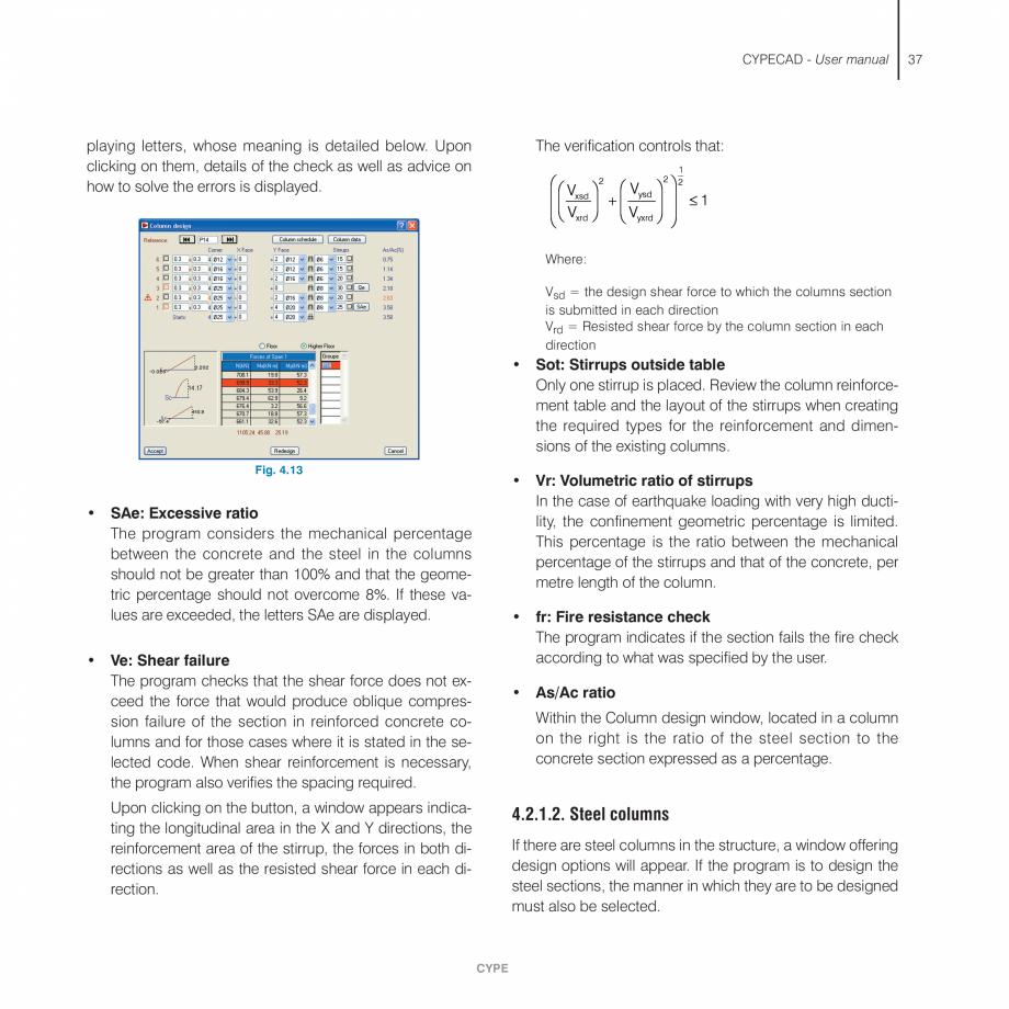 Pagina 37 - Manual de utilizare CYPE CYPECAD Instructiuni montaj, utilizare Engleza evious dialogue ...