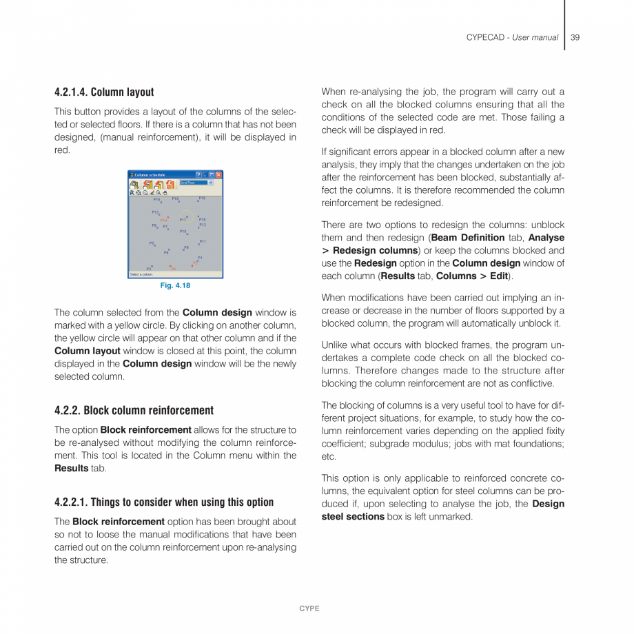 Pagina 39 - Manual de utilizare CYPE CYPECAD Instructiuni montaj, utilizare Engleza ude safety...