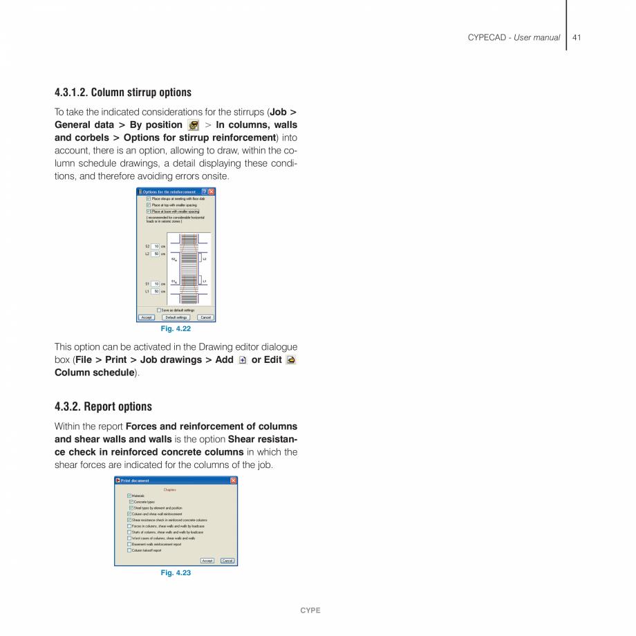 Pagina 41 - Manual de utilizare CYPE CYPECAD Instructiuni montaj, utilizare Engleza e thickness is...