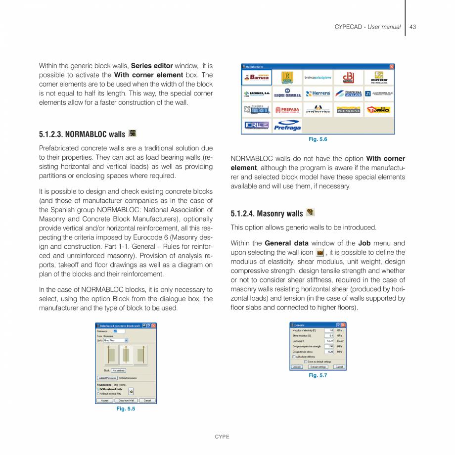 Pagina 43 - Manual de utilizare CYPE CYPECAD Instructiuni montaj, utilizare Engleza oordinate origin...