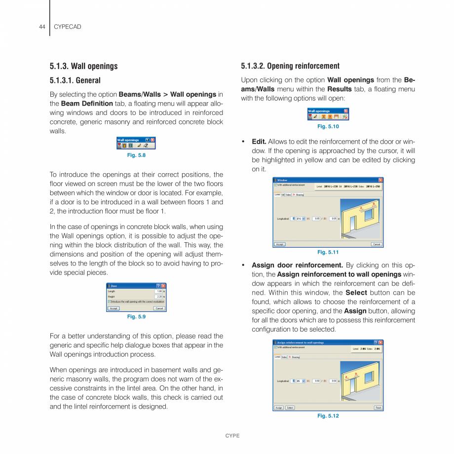 Pagina 44 - Manual de utilizare CYPE CYPECAD Instructiuni montaj, utilizare Engleza  clicking on to ...