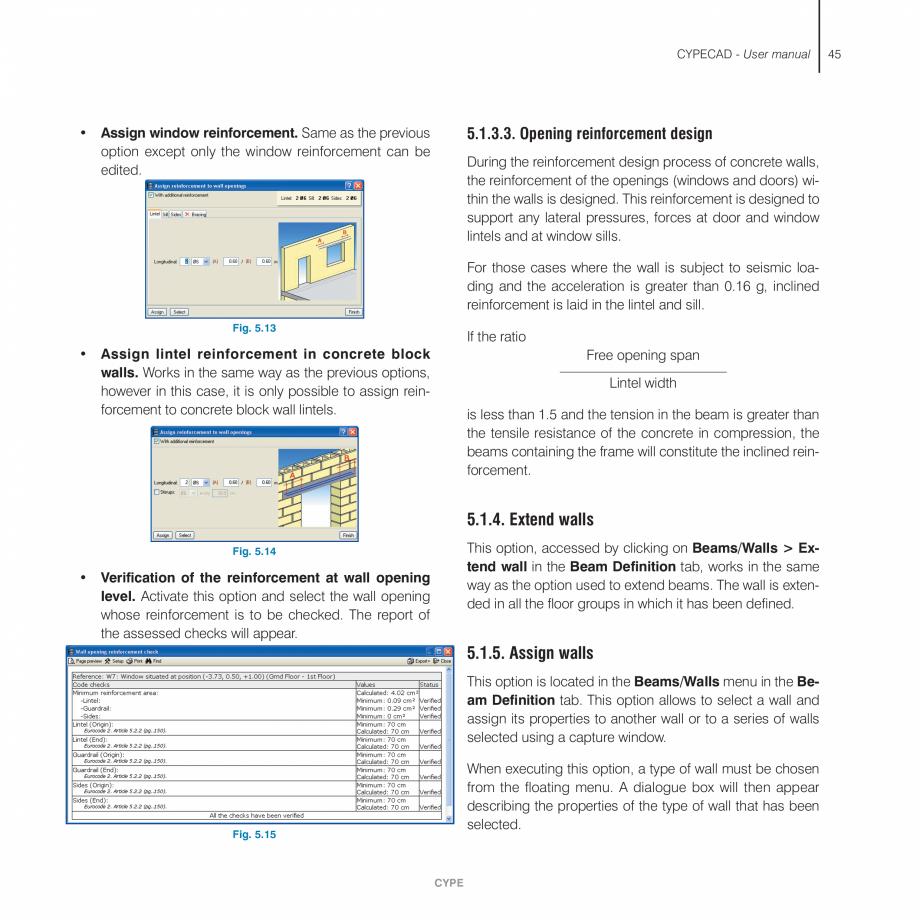 Pagina 45 - Manual de utilizare CYPE CYPECAD Instructiuni montaj, utilizare Engleza me reinforcement...