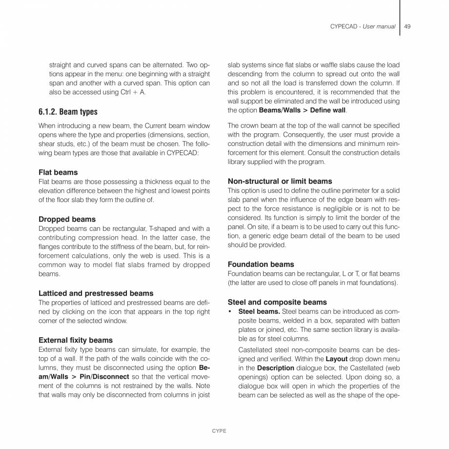 Pagina 49 - Manual de utilizare CYPE CYPECAD Instructiuni montaj, utilizare Engleza the live loads...