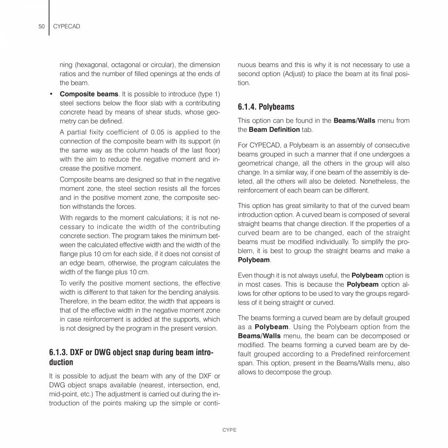 Pagina 50 - Manual de utilizare CYPE CYPECAD Instructiuni montaj, utilizare Engleza  destination...
