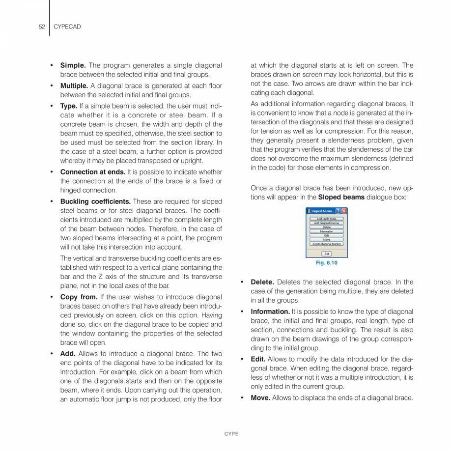 Pagina 52 - Manual de utilizare CYPE CYPECAD Instructiuni montaj, utilizare Engleza  visible (the...