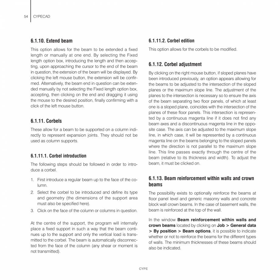 Pagina 54 - Manual de utilizare CYPE CYPECAD Instructiuni montaj, utilizare Engleza  selected.  Bear...