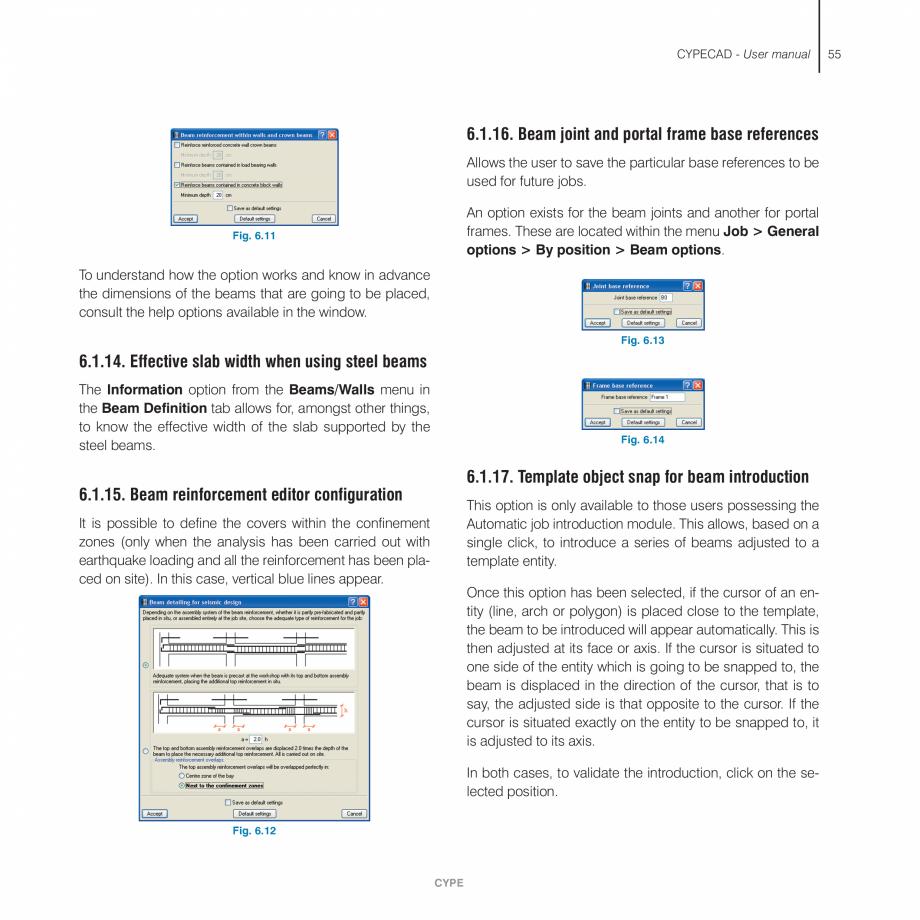 Pagina 55 - Manual de utilizare CYPE CYPECAD Instructiuni montaj, utilizare Engleza e type of column...