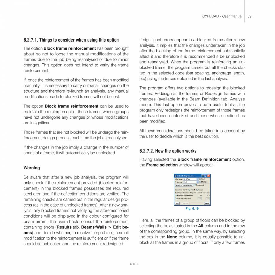 Pagina 59 - Manual de utilizare CYPE CYPECAD Instructiuni montaj, utilizare Engleza  need to provide...