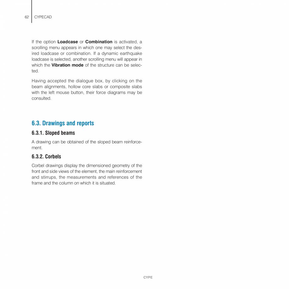 Pagina 62 - Manual de utilizare CYPE CYPECAD Instructiuni montaj, utilizare Engleza  types of shear ...