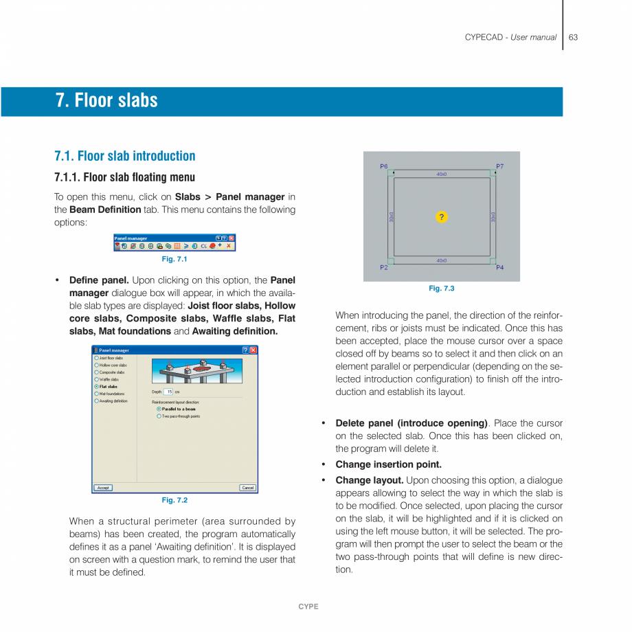 Pagina 63 - Manual de utilizare CYPE CYPECAD Instructiuni montaj, utilizare Engleza window, those...