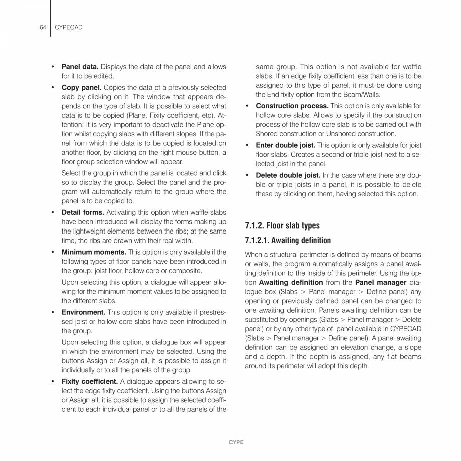 Pagina 64 - Manual de utilizare CYPE CYPECAD Instructiuni montaj, utilizare Engleza hat of the...