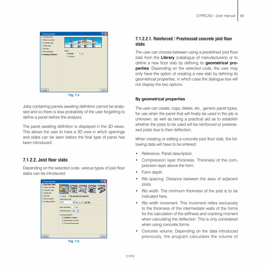 Pagina 65 - Manual de utilizare CYPE CYPECAD Instructiuni montaj, utilizare Engleza appears...