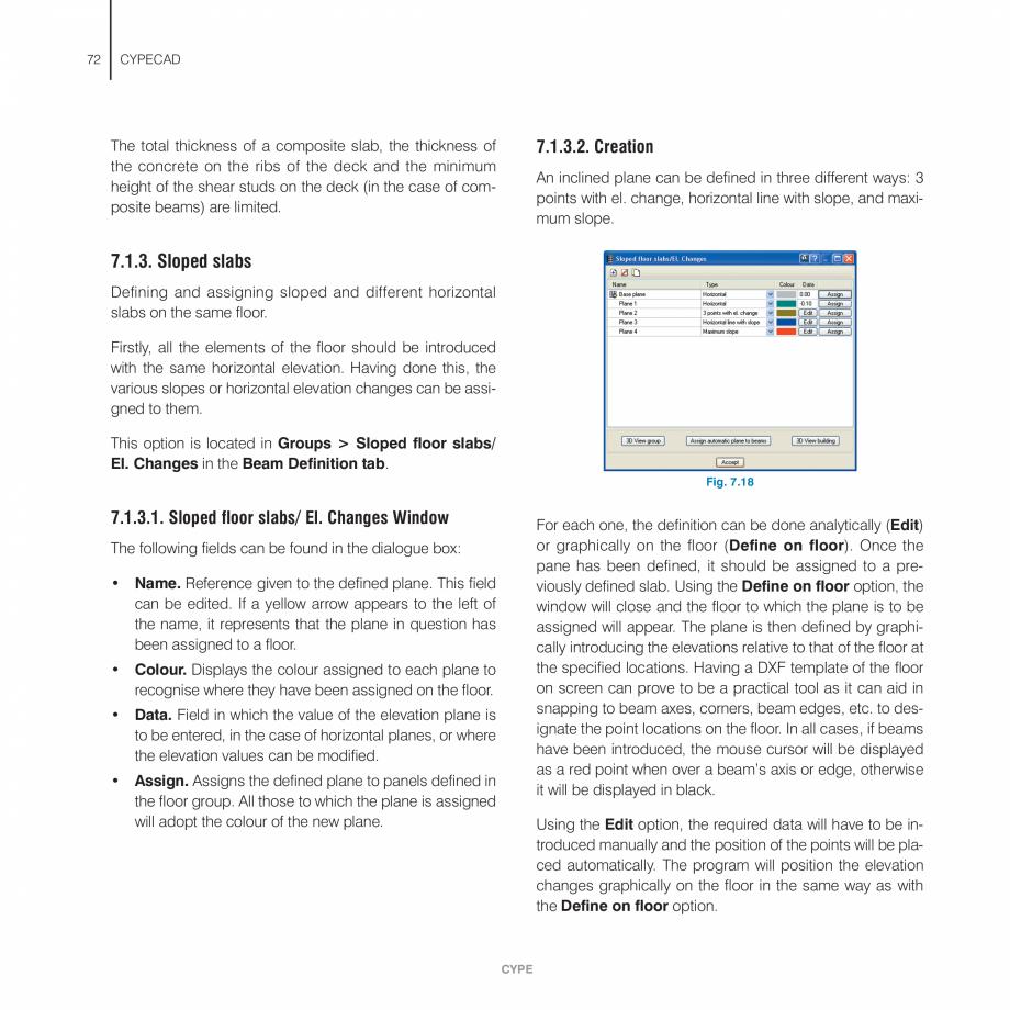 Pagina 72 - Manual de utilizare CYPE CYPECAD Instructiuni montaj, utilizare Engleza efine wall from ...