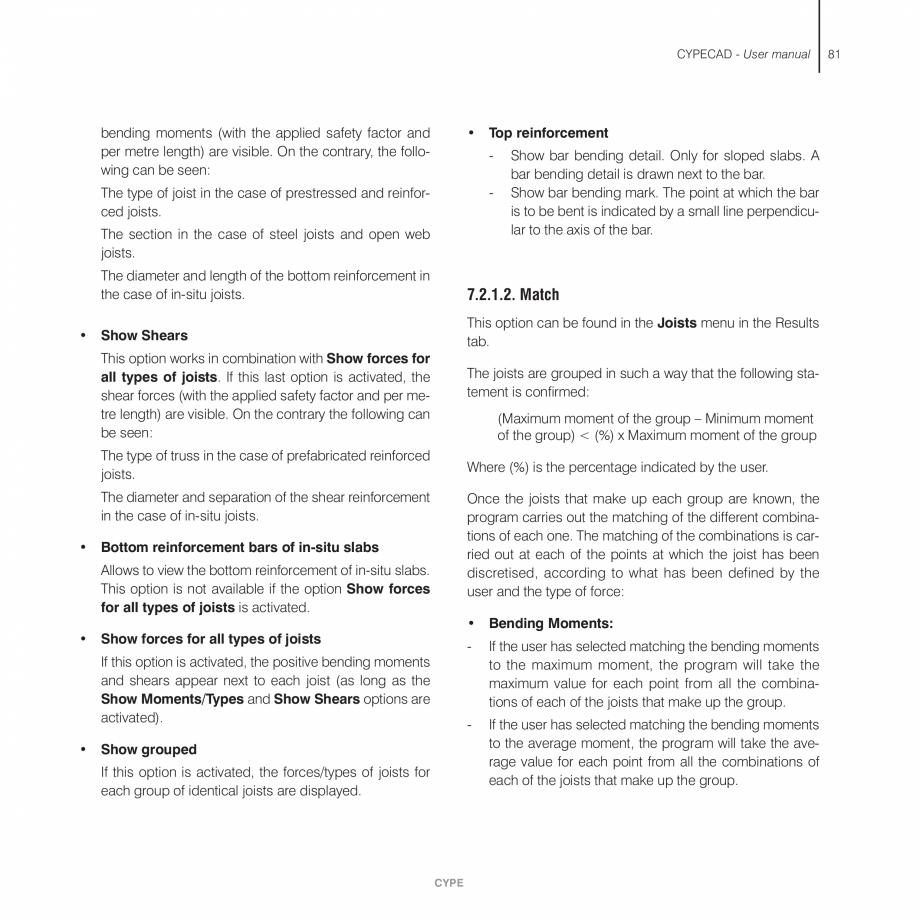 Pagina 81 - Manual de utilizare CYPE CYPECAD Instructiuni montaj, utilizare Engleza ced concrete...