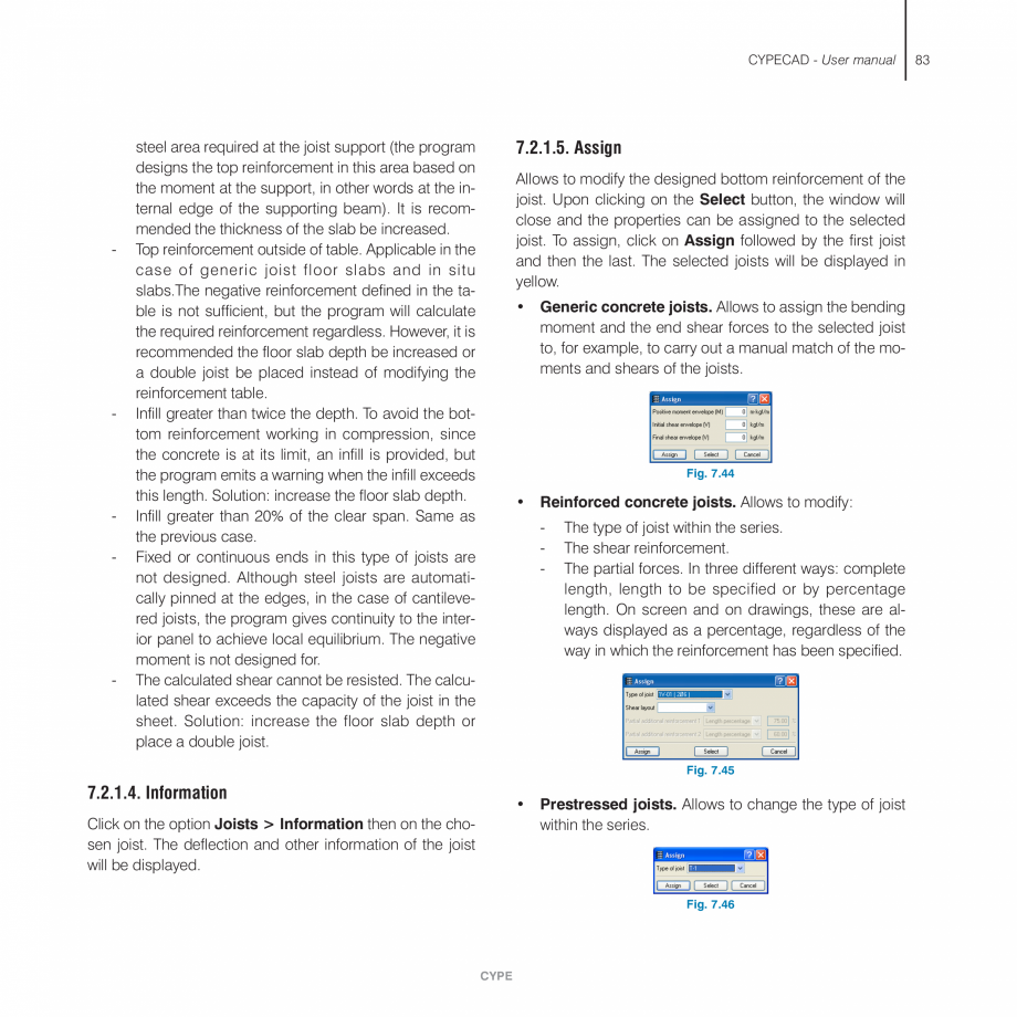 Pagina 83 - Manual de utilizare CYPE CYPECAD Instructiuni montaj, utilizare Engleza ECAD  Adjustment...