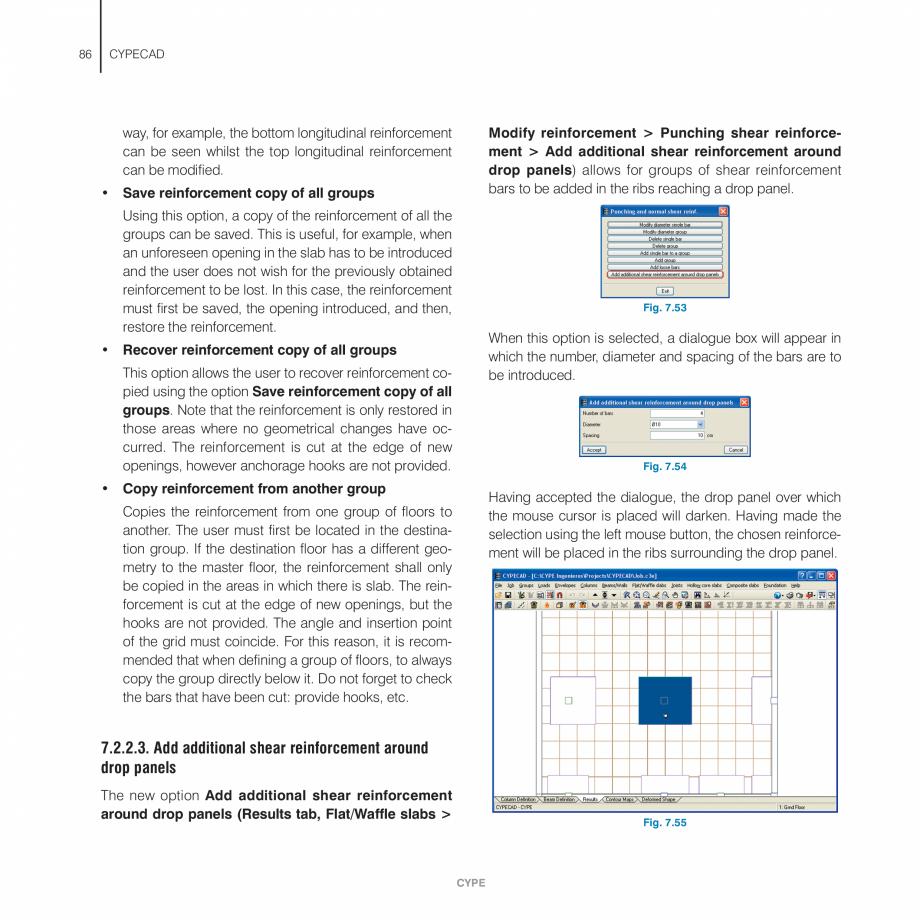Pagina 86 - Manual de utilizare CYPE CYPECAD Instructiuni montaj, utilizare Engleza wn the column....
