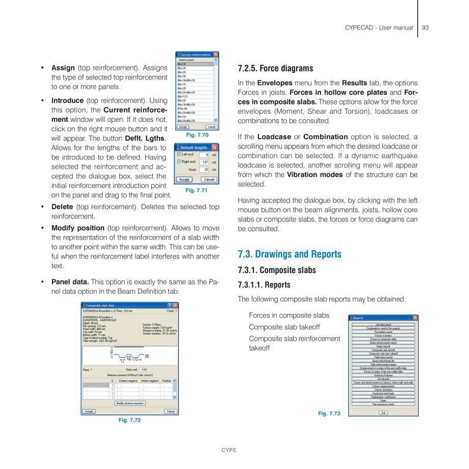 Pagina 93 - Manual de utilizare CYPE CYPECAD Instructiuni montaj, utilizare Engleza einforcement...