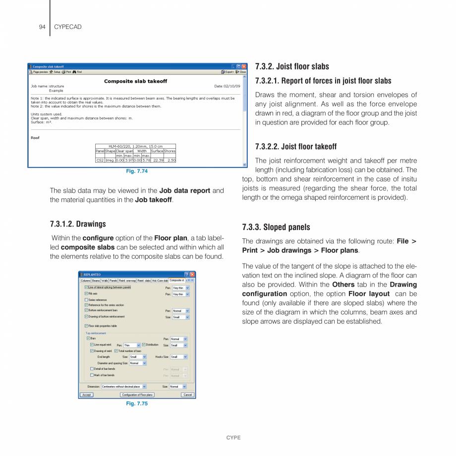 Pagina 94 - Manual de utilizare CYPE CYPECAD Instructiuni montaj, utilizare Engleza al group. Floor ...