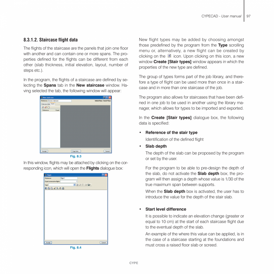 Pagina 97 - Manual de utilizare CYPE CYPECAD Instructiuni montaj, utilizare Engleza tion. For...