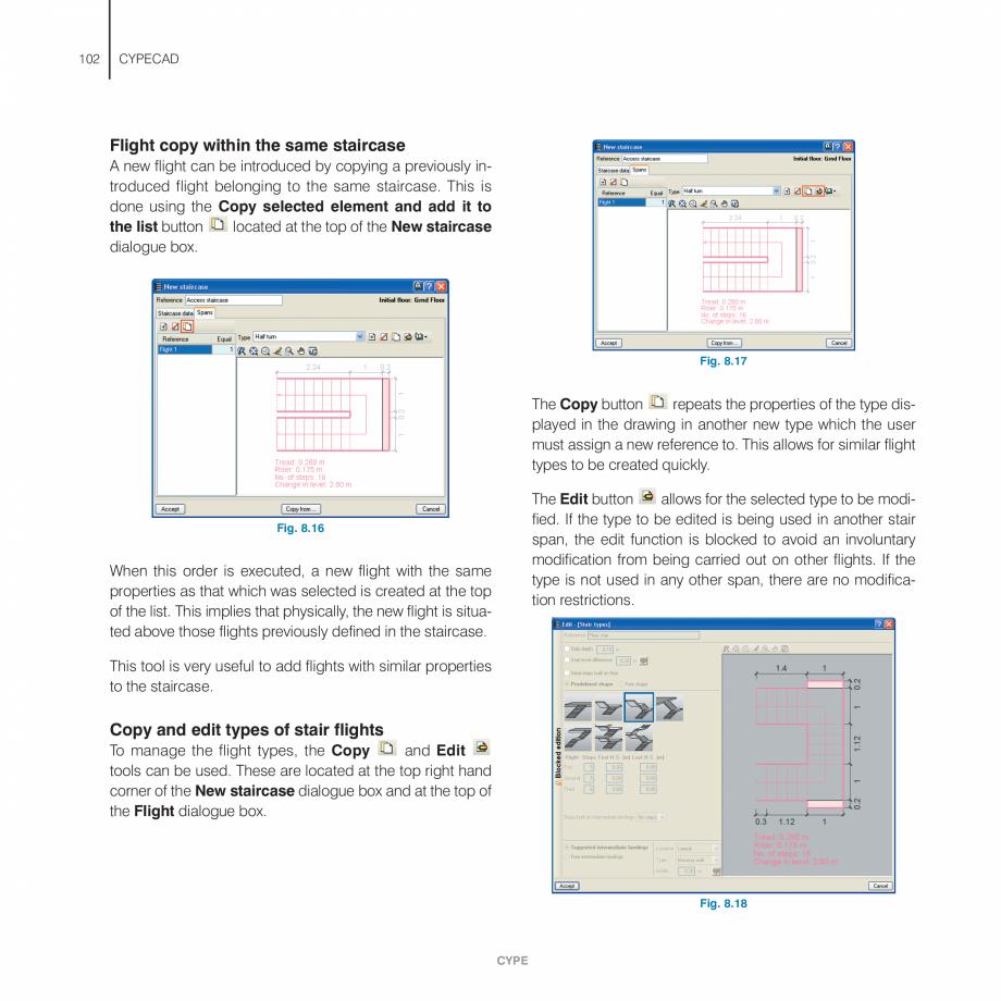Pagina 102 - Manual de utilizare CYPE CYPECAD Instructiuni montaj, utilizare Engleza the beams...