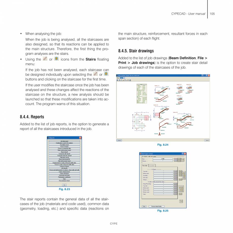 Pagina 105 - Manual de utilizare CYPE CYPECAD Instructiuni montaj, utilizare Engleza lygon) is...
