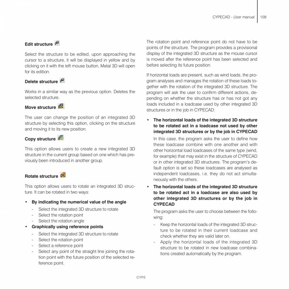 Pagina 109 - Manual de utilizare CYPE CYPECAD Instructiuni montaj, utilizare Engleza e.  Situate the...