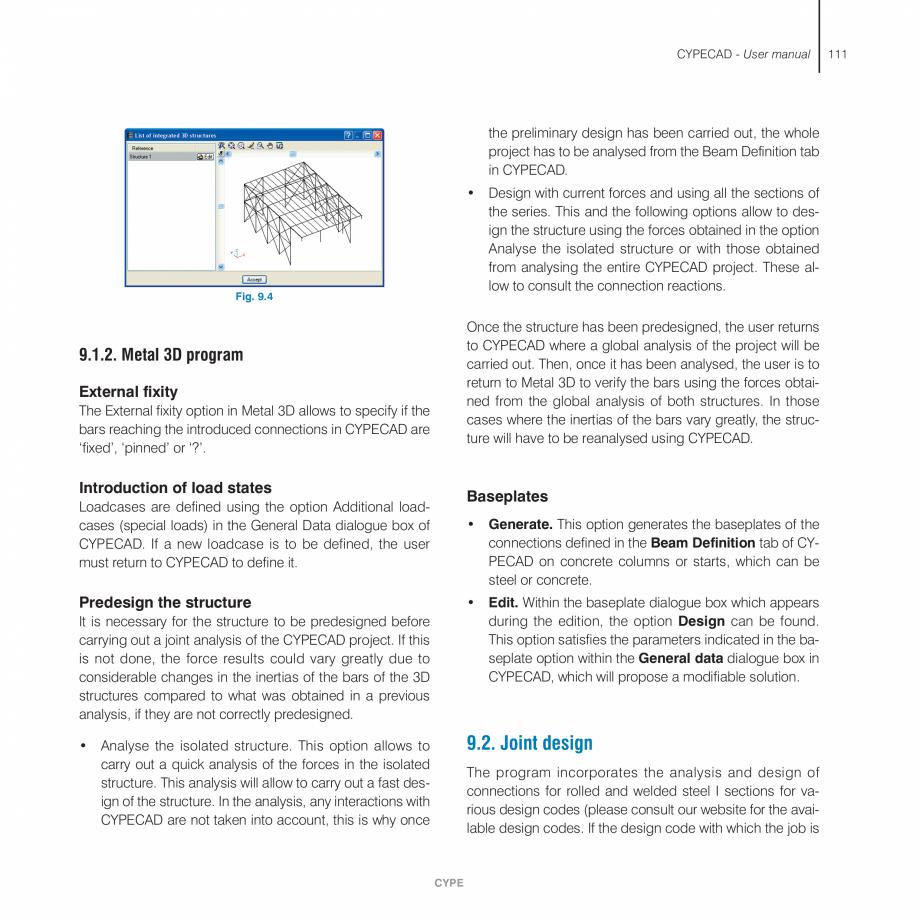Pagina 111 - Manual de utilizare CYPE CYPECAD Instructiuni montaj, utilizare Engleza o be assigned, ...
