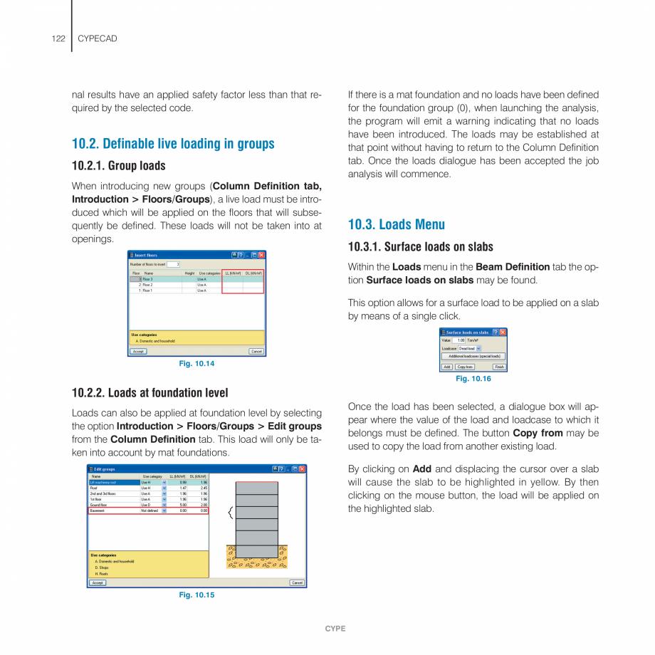 Pagina 122 - Manual de utilizare CYPE CYPECAD Instructiuni montaj, utilizare Engleza rogram will...