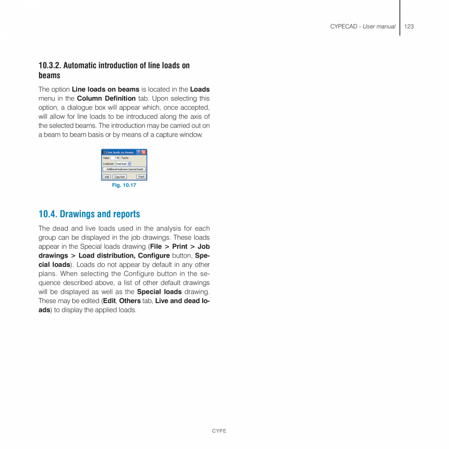 Pagina 123 - Manual de utilizare CYPE CYPECAD Instructiuni montaj, utilizare Engleza it to be edited...