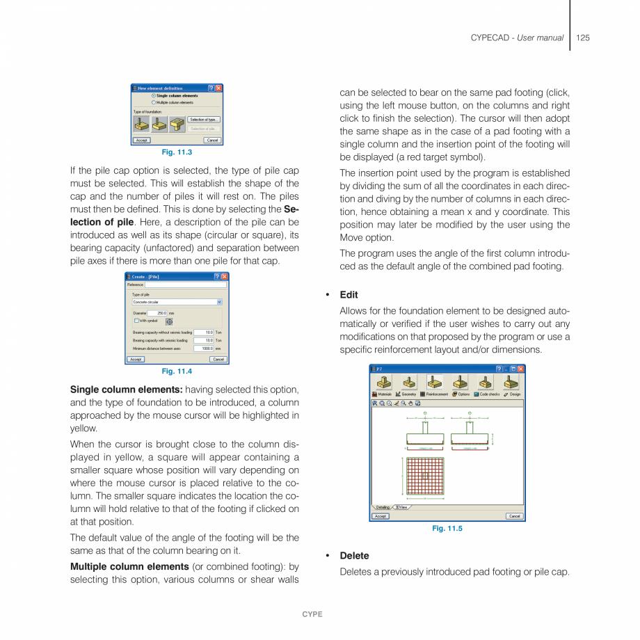 Pagina 125 - Manual de utilizare CYPE CYPECAD Instructiuni montaj, utilizare Engleza anged to one...