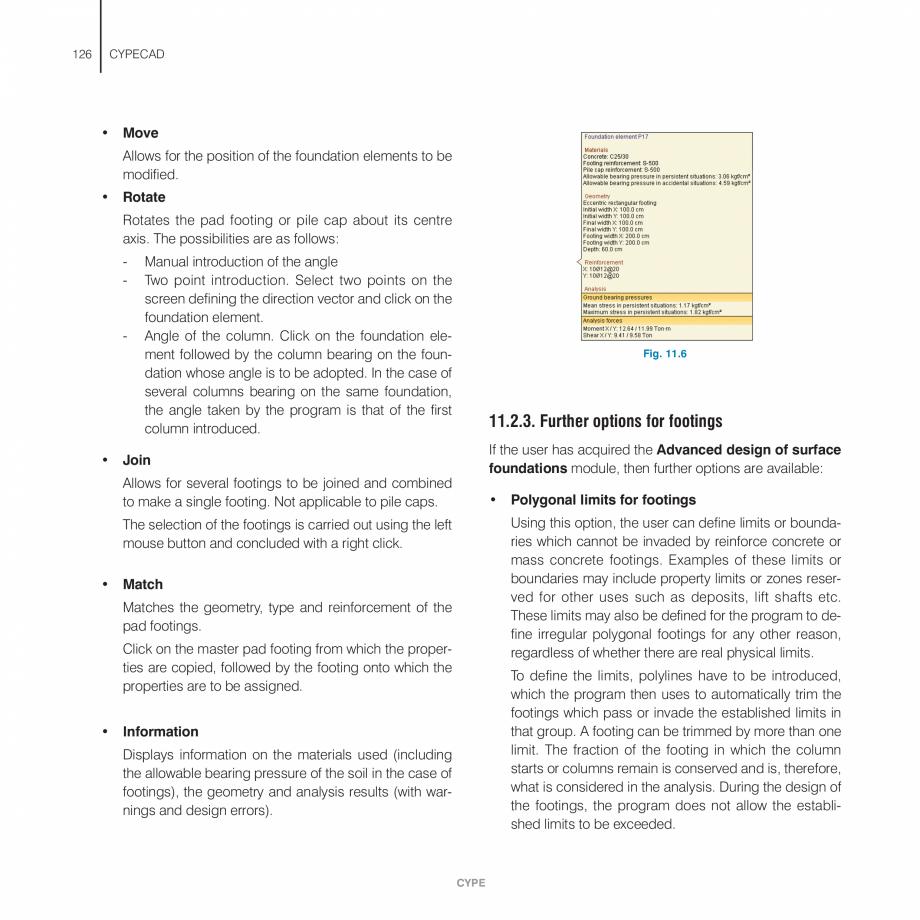 Pagina 126 - Manual de utilizare CYPE CYPECAD Instructiuni montaj, utilizare Engleza possible to...