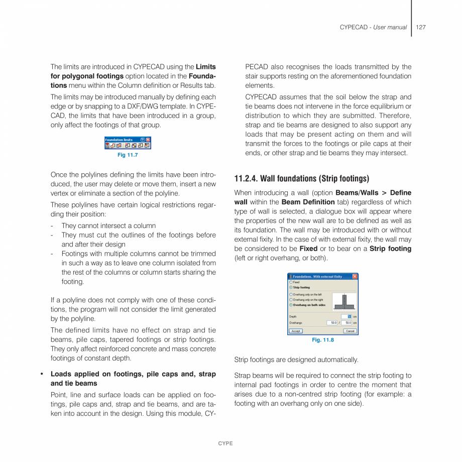 Pagina 127 - Manual de utilizare CYPE CYPECAD Instructiuni montaj, utilizare Engleza tressed joists ...