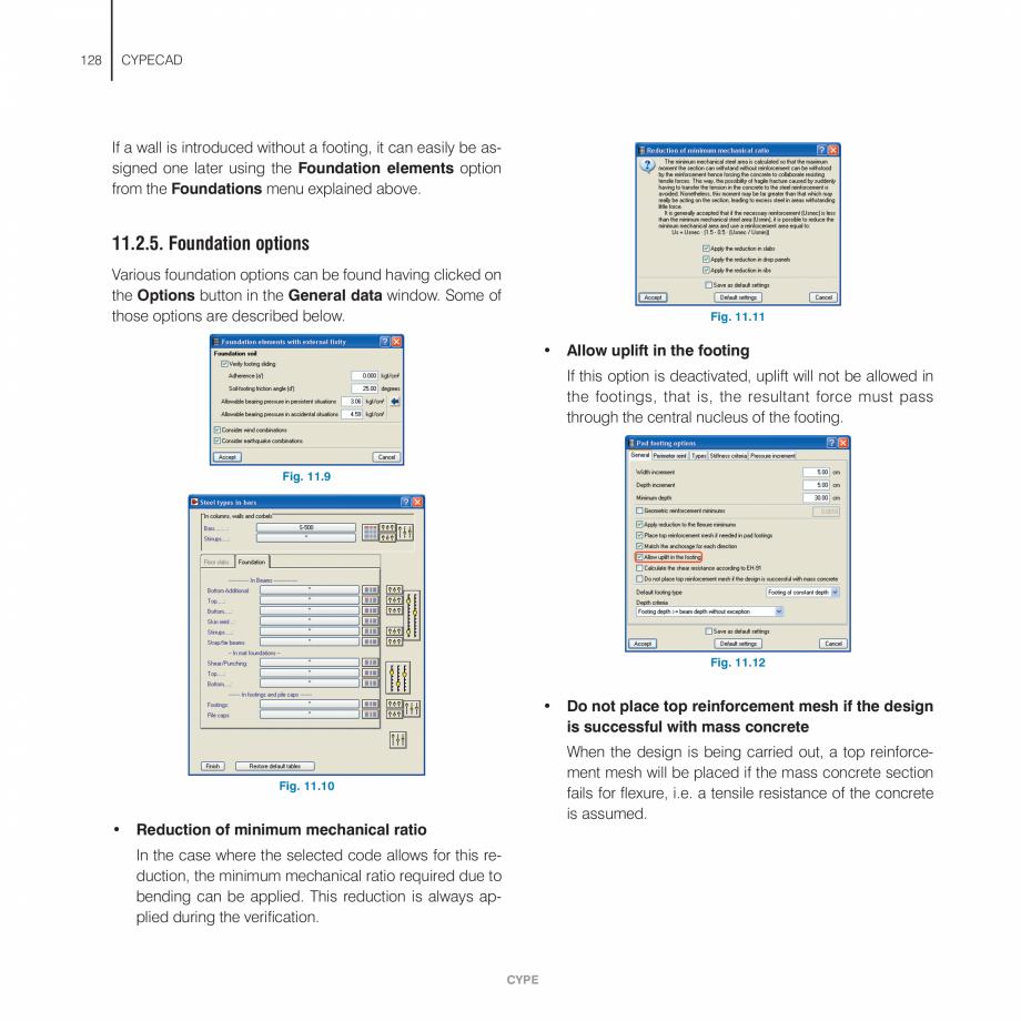 Pagina 128 - Manual de utilizare CYPE CYPECAD Instructiuni montaj, utilizare Engleza  Depending on...