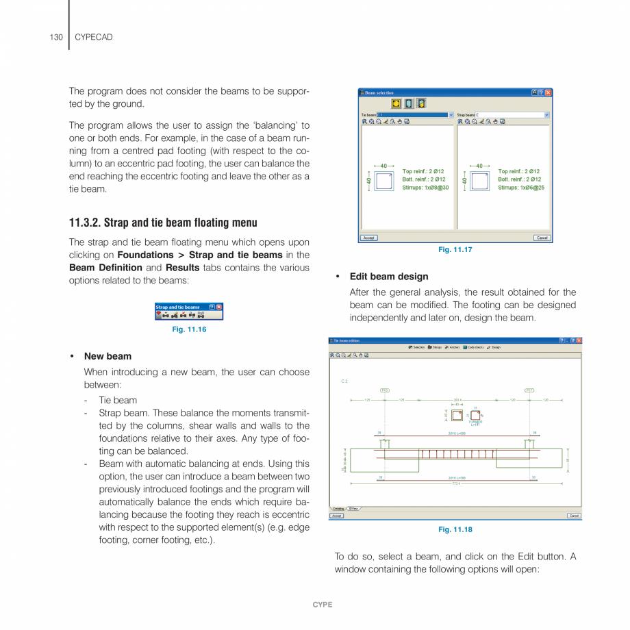 Pagina 130 - Manual de utilizare CYPE CYPECAD Instructiuni montaj, utilizare Engleza erties of the...