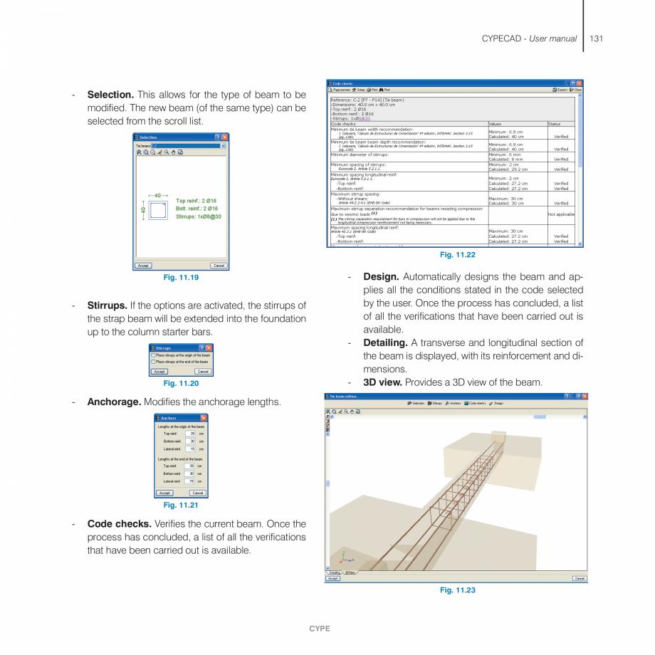 Pagina 131 - Manual de utilizare CYPE CYPECAD Instructiuni montaj, utilizare Engleza s recommended...