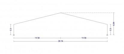 Hala industriala din cadre mixte: stalpi IPE 240 si grinzi din lemn incleiat GLULAM 16x44 cm / Hala industriala din cadre mixte: analizata in programele de proiectare CYPE 3D si Portal Frame Generator