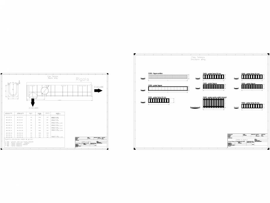 Pagina 1 - CAD-DWG Rigola  GIMANI&MUFLE Detaliu de produs WING