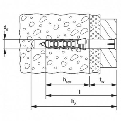 Diblu FISCHER - SXR - desen tehnic SXR Diblu nylon FISCHER