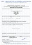 Certificat de conformitate sanitara STERN