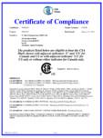 Certificat de conformitate CSA Group STERN