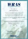 Certificat WRAS STERN - TUBULAR E