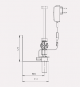 Baterie cu senzor - desen tehnic STERN